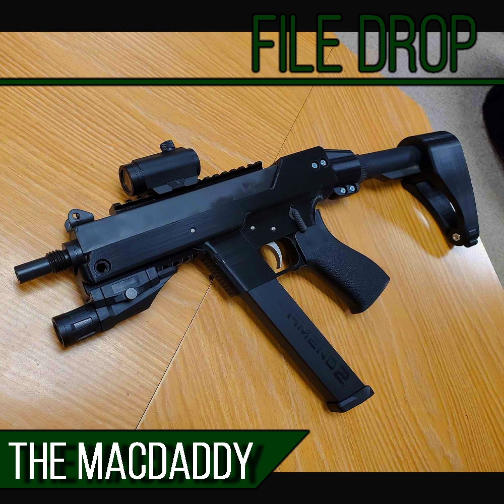 File Drop: The Mac Daddy 3D Printable MAC11-9 Frame