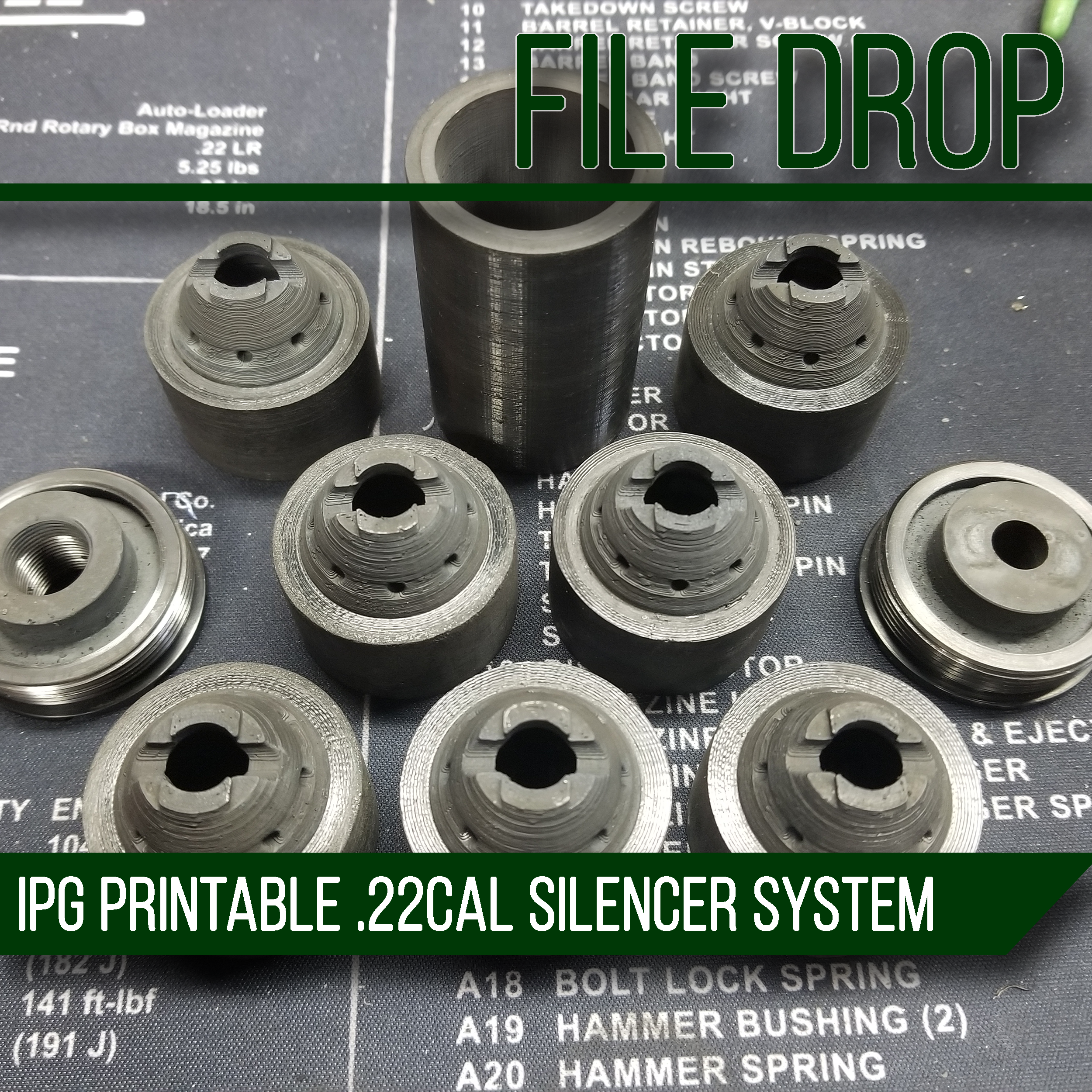 File Drop: The IPG 3D Printable .22Cal Silencer System