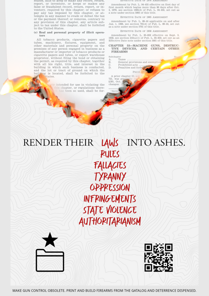 """Render their laws into ashes"""