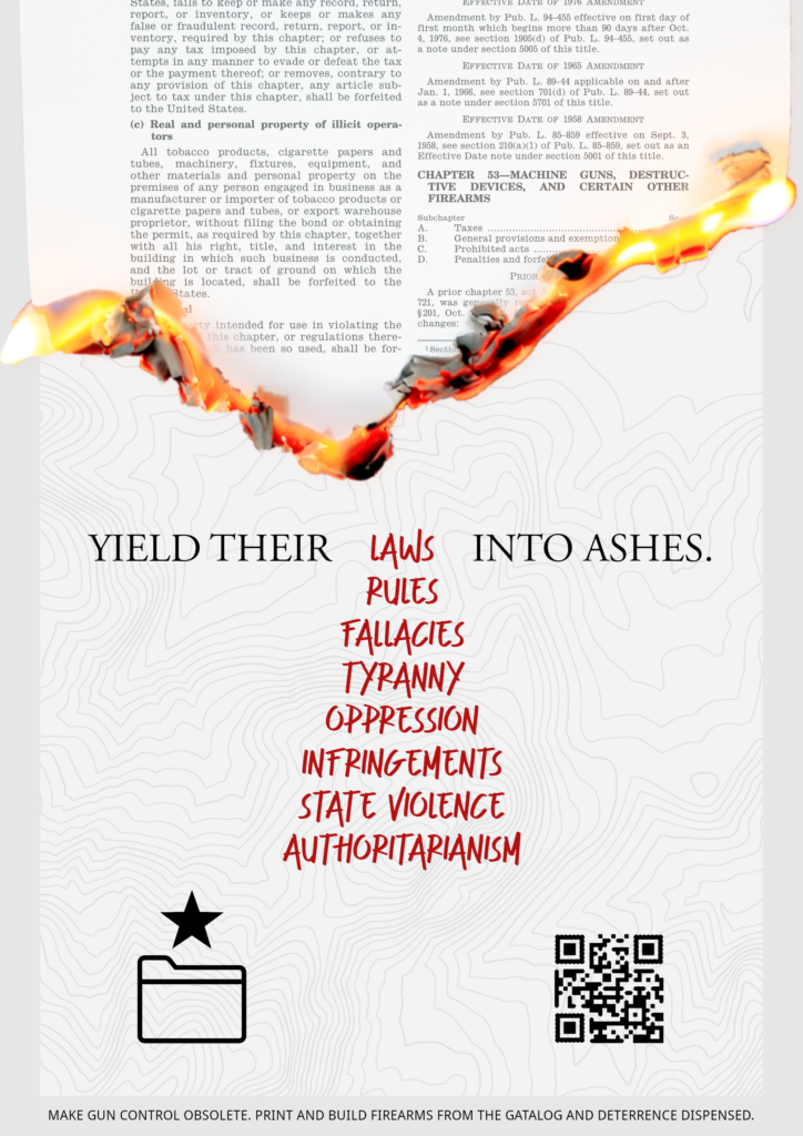 """Yield their laws into ashes"""