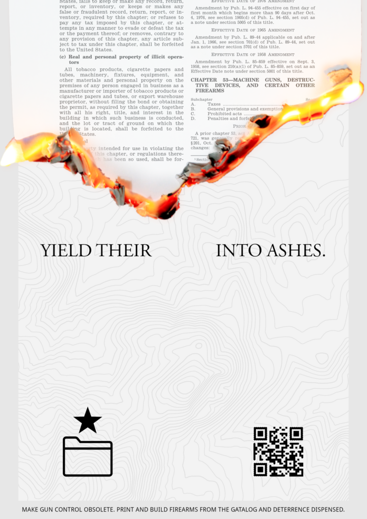 """Yield their BLANK into ashes"""