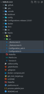 Resulting directory structure after copying configuration files
