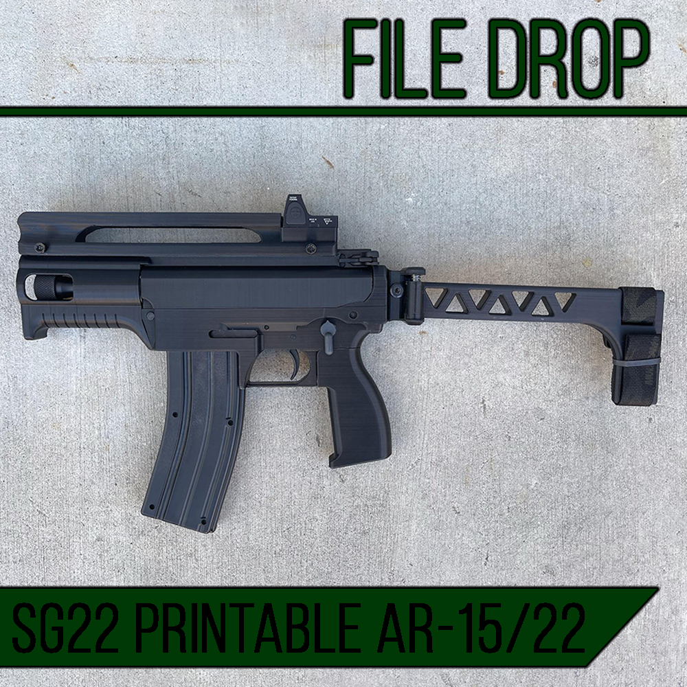 File Drop: The SG22 3D Printable AR-15/22 by Booligan